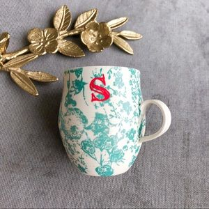 Anthropologie Homegrown a monogram mug cup